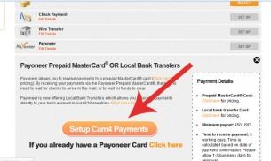 Como configurar minha opção de pagamento pelo payoneer