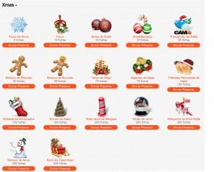 Presentes de Natal no Cam4