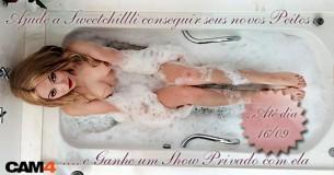 Ajude a Sweetchillli conseguir seus novos peitos e ganhe um Show Privado com ela