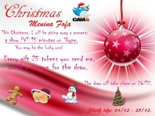 Celebre o Natal com a Meniinafofa no CAM4