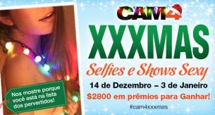 Vote na sua foto preferida XXXmas de Natal no CAM4