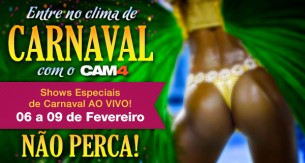 Shows Especiais de Carnaval no Cam4