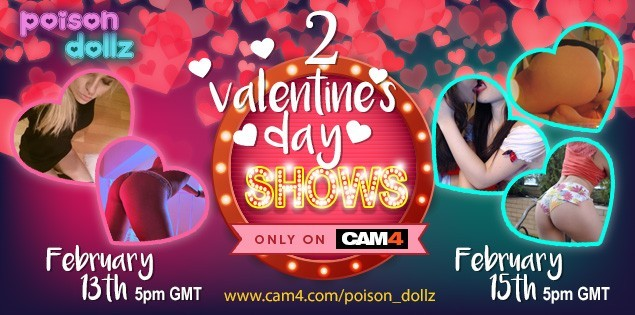 Fim de Semana Valentine's Day com as Poison Dollz