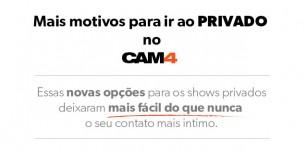 Novos preços de Shows Privados no CAM4