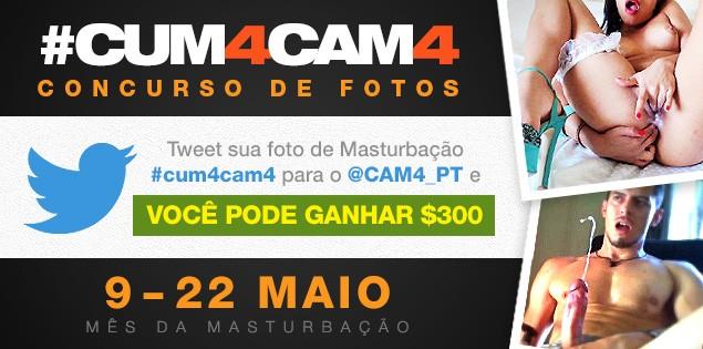 Concurso de Fotos cum4cam4 – Mês da Masturbação