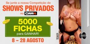 Participe do Concurso de Shows Privados 5000 Fichas em Prêmios