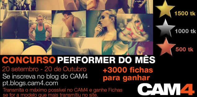 Concurso Performer do Mês Setembro – 3000 Fichas em Prêmios