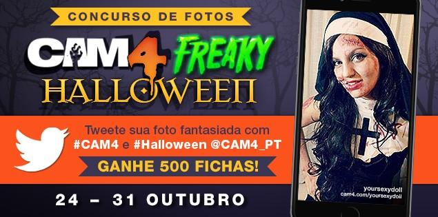 Concurso de Fantasias de Halloween no CAM4
