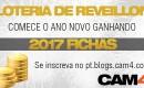 Loteria de Réveillon -Comece o ano novo com 2017 fichas para gastar