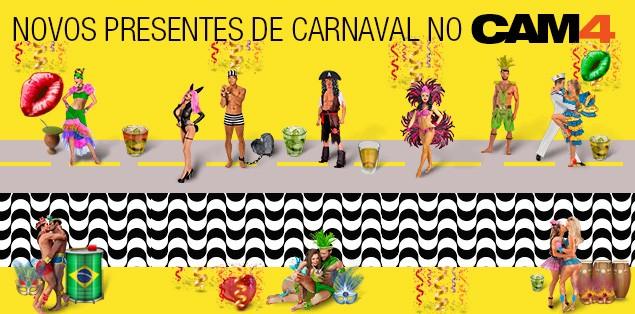 Novos Presentes Carnaval Brasileiro no CAM4