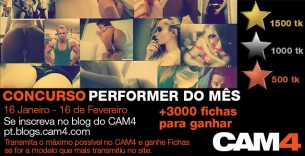Ganhadores Concurso Performer do Mês CAM4