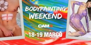 Shows Especiais de Pintura Corporal Esse Fim de Semana no CAM4 – #Bodypainting Weekend