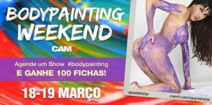 BodyPainting Weekend no CAM4 – Participe e Ganhe 100 Fichas