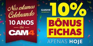 Ganhe Bônus em Fichas no CAM4 Apenas Hoje!