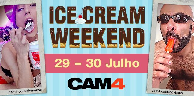 Ice Cream Weekend no CAM4 – As melhores chupadas aqui