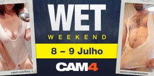 Um fim de semana molhado no Cam4! Confira shows de sexo ao vivo especiais
