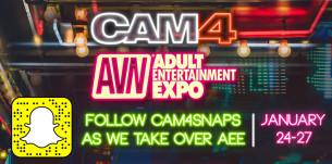 Siga o CAM4 e veja tudo o que acontece na Adult Entertainment EXPO em Las Vegas!