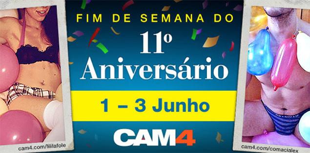 Uma festa de sexo de 3 dias para celebrar o 11º aniversário do CAM4!
