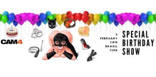 Show Especial de Aniversário da Camgirl Fodastica69 no CAM4